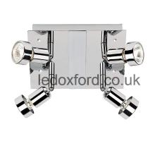 Endon 1715 4 spotlight fitting in chrome finish for the kitchen