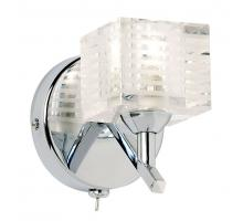 Endon 91391 Chrome Crystal wall light frosted glass