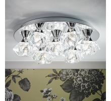 Endon Arietta Range of chrome ceiling wall lights faceted shades