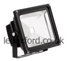 AU-FLD302 240V IP65 Adjustable 30W LED Flood Light - Black