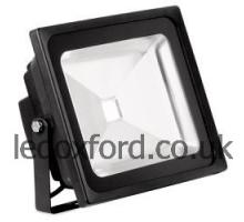 AU-FLD502 240V IP65 Adjustable 50W LED Flood Light - Black