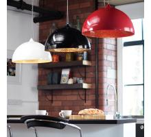 Endon Bardem Range of pendant lights red white black