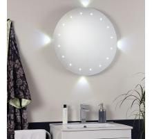 Endon EL-FORMENTERA IP44 Round Bathroom Mirror with backlite