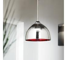 Endon Elektra-CHRE Chrome and red pendant ceiling fitting