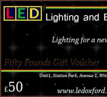 Gift Vouchers for Lighting Products Oxfordshire Lighting Showroom