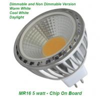 LED 5 Watt MR16 COB Saver Dimmable and Non Dimmable