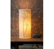 Range of Cow Parsley design Table Lamps Small Round and oval