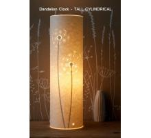 Range of Dandelion Clock design Table Lamps Small Round and oval