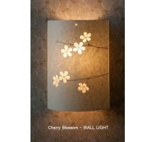 Range of Cherry Blossom design Table Lamps Small Round and oval